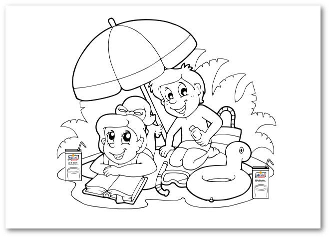 Fill-in-the-colours Drawings For Kids MinusL