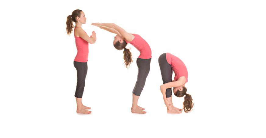 Yogaübung Sonnengruß Teil 1