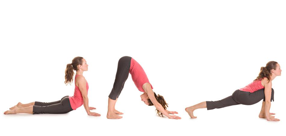 Yogaübung Sonnengruß Teil 3