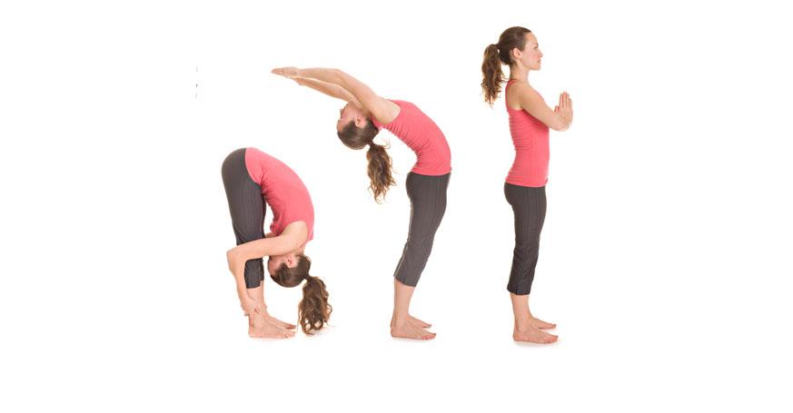 Yogaübung Sonnengruß Teil 4